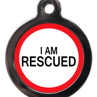 I am Rescued ME48 Medic Alert Dog ID Tag