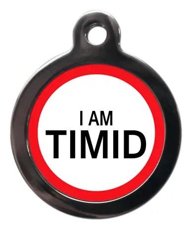 I am Timid ME46 Medic Alert Dog ID Tag