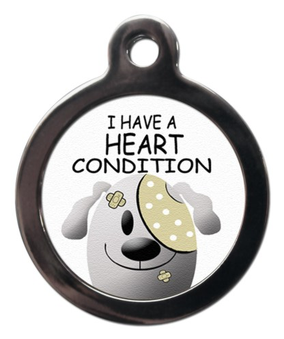 Heart Condition ME25 Medic Alert Dog ID Tag