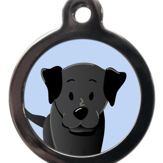 Labrador Black BR32 Dog Breed ID Tag