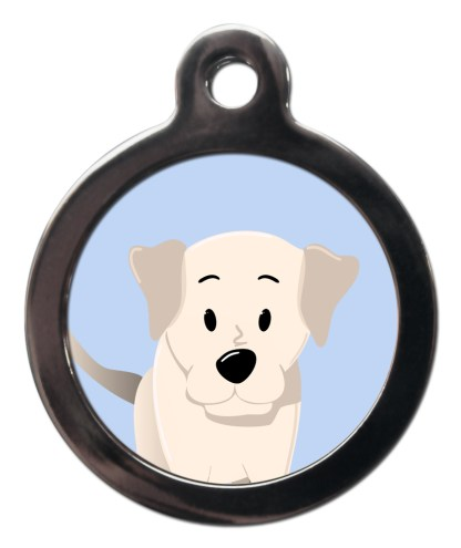 Labrador Yellow BR22 Dog Breed ID Tag