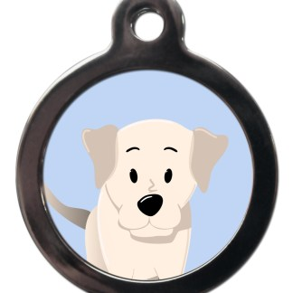 Labrador Yellow BR22 Dog Breed ID Tag