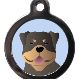 Rottweiler BR26 Dog Breed ID Tag