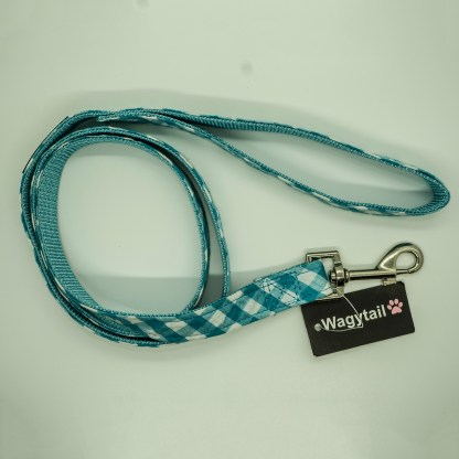 Wagytail Aqua Gingham Lead