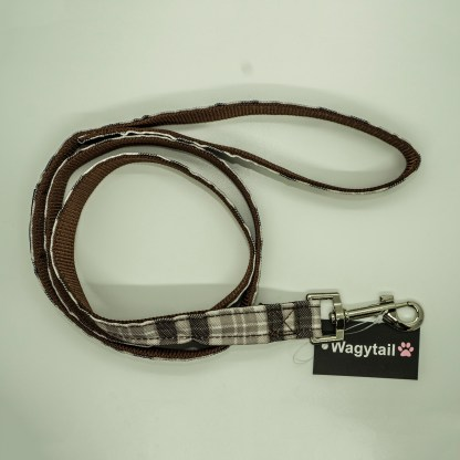 Wagytail Brown Gingham Lead