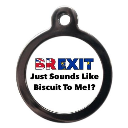 Brexit CO96 Comic Dog ID Tag
