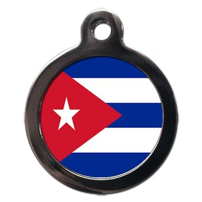 Cuban Flag FL35 Dog ID Tag