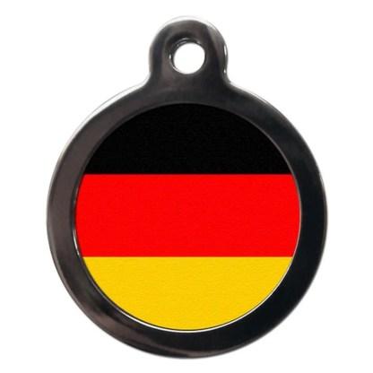 German Flag FL12 Dog ID Tag