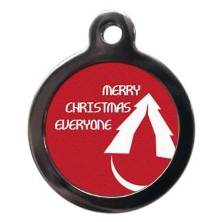 Merry Christmas Everyone FE16 Festive Christmas Dog ID Tag