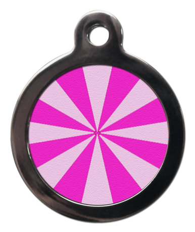 Pink Pie Slices PA11 Pattern Dog ID Tag
