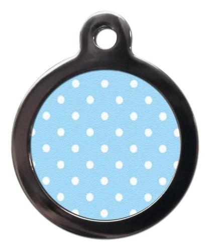 Blue Polka Dot PA12 Pattern Dog ID Tag