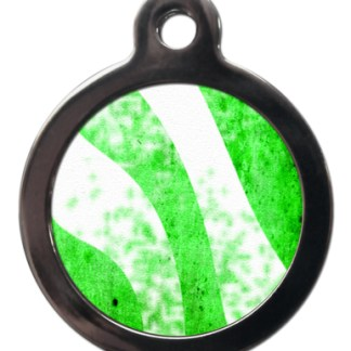 Green Stripes PA18 Pattern Dog ID Tag