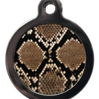 Snake Print PA23 Pattern Dog ID Tag