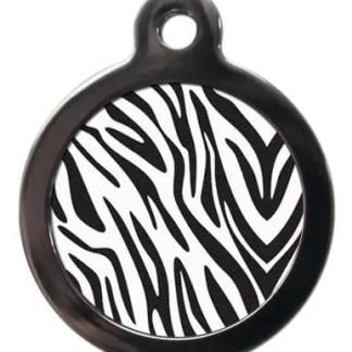 Zebra Print PA25 Pattern Dog ID Tag