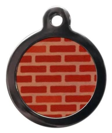 Brick Wall PA6 Pattern Dog ID Tag