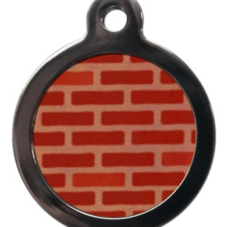 Brick Wall PA6 Pattern Dog ID Tag