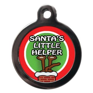 Santa's Little Helper FE26 Festive Christmas Dog ID Tag