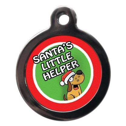 Santa's Little Helper FE29 Festive Christmas Dog ID Tag