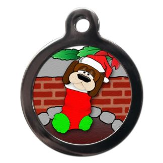 Stocking Filler FE4 Festive Christmas Dog ID Tag