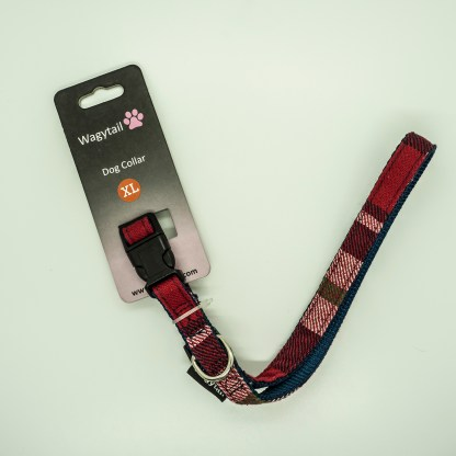 Wagytail Red Tartan Collar