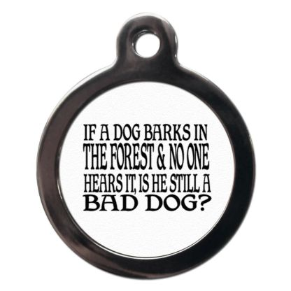 If a Dog Barks CO32 Comic Dog ID Tag