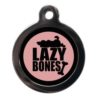 Lazy Bones CO67 Comic Dog ID Tag