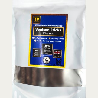 TP Feeds Venison Sticks Pack of 12