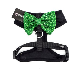 Black Harness with Green Bow MH01