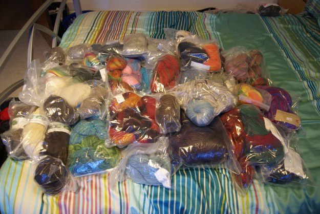 Handspun stash January 2016