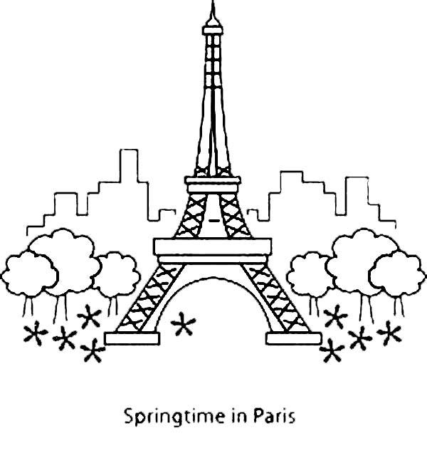 eiffel tower coloring pages # 70