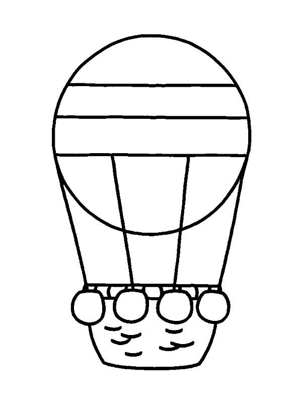 hot air balloon coloring pages # 57
