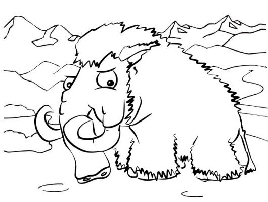 mountain coloring page # 24
