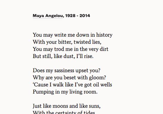 Poets, Tides & Still I Rise