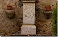 Columna del altar situada al reves