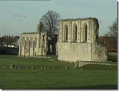 Ruinas de la antigua abadia de Glastonbury