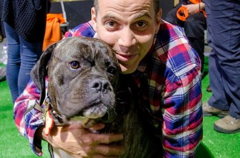Loved Up Couple Stacey Solomon & Steve-O Meet Rescue Dog, Lacy 1