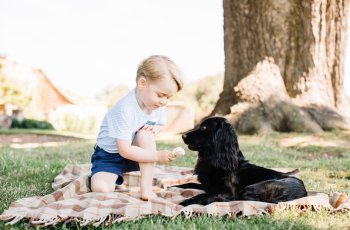 Prince George Celebrates Third Birthday Sharing a Picnic With His Dog 3