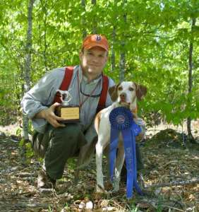 Me & Puck, back when she won the Gundog Stake at the Maine Bird Dog Club's spring trial