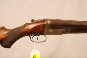 8 gauge double barrel, side-by-side Parker shotgun
