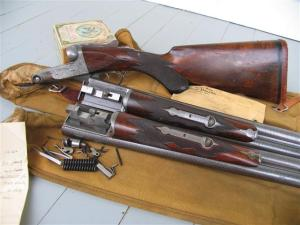 Parker DHE double barrel shotgun, 12 gauge, 2-bbl set