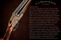 A.A. Brown & Sons, 12g shotgun, matthewbrownphotography. c. 2012.