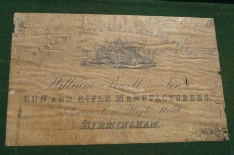 William Powell & Sons Gunmaker Case Label