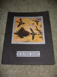 1931-1934 A.H. Fox Double Barrel Shotgun Catalog - Lynn Bogue Hunt Cover