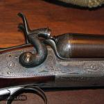 J.D. Dougall 12 gauge double barrel hammer shotgun