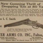 Early Ad for L.C. Smith's Long Range Wildfowl Double Barrel Shotgun