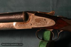 12 gauge L.C. Smith No. 5E double barrel side-by-side shotgun