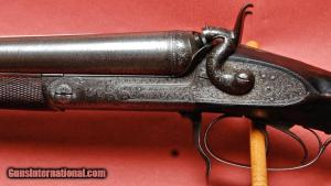 E. M. Reilly 12 ga hammer gun, side by side