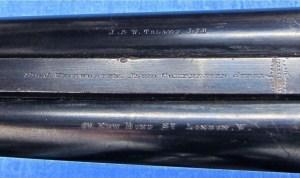 J.W. Tolley 12 gauge hammer sidelock double shotgun