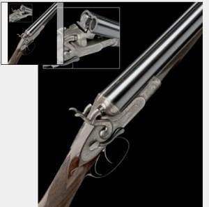 12 gauge Boss hammer ejector double barrel shotgun