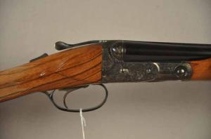 "Parker/Winchester 20 gauge DHE double barrel shotgun, 26"", straight grip"